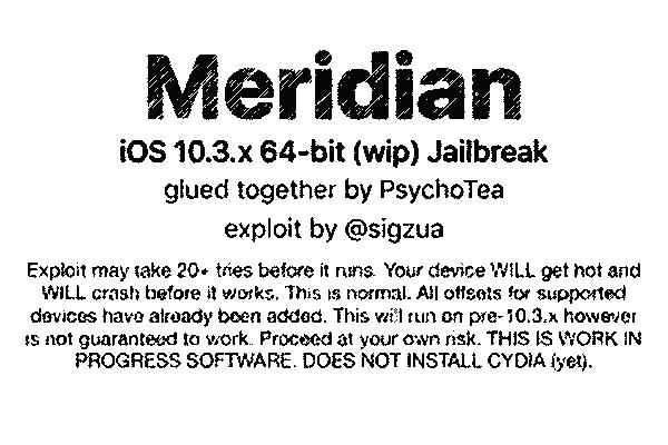 Download Meridian Jailbreak iPA for iOS 10-10 3 3~Step By