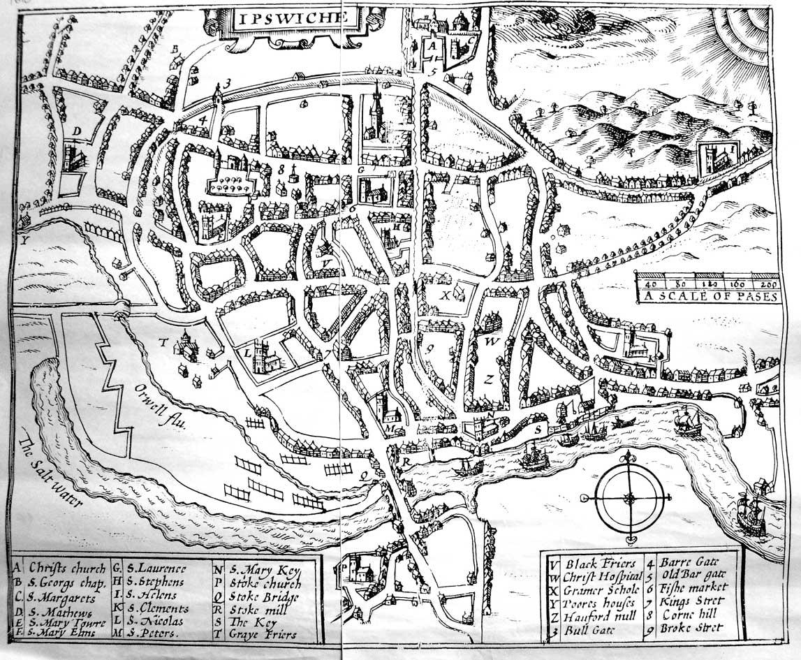 Ipswich Historic Lettering Map