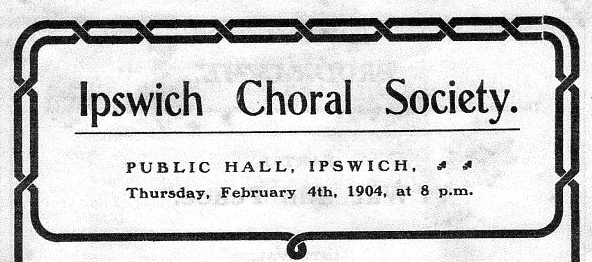 Part of 1904 concert poster