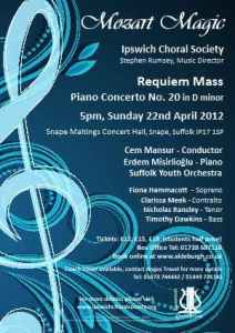 April 2012 concert poster