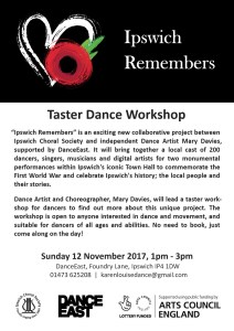 Taster Dance Workshop flyer