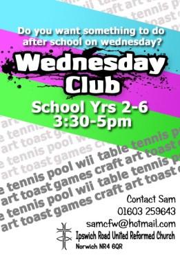 Wednesday Club Flyer