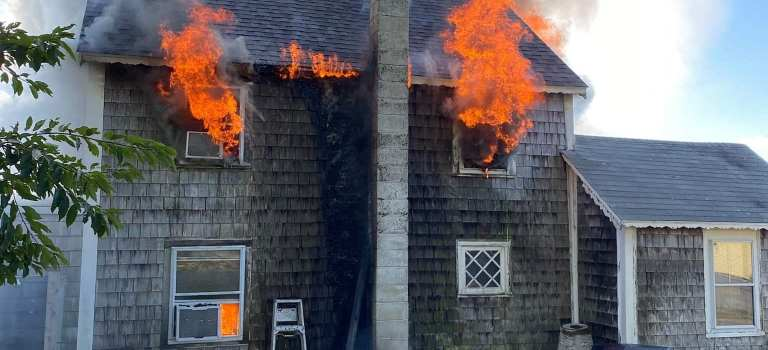 Ipswich Fire Department Extinguishes Two-Alarm House Fire
