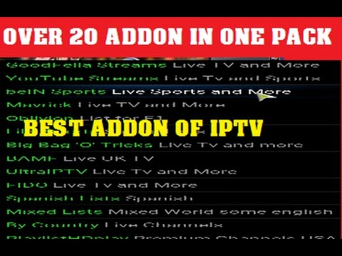 KODI MANY TOP IPTV ADDON IN ONE ANONYMOUS STOLEN STREAMS ON