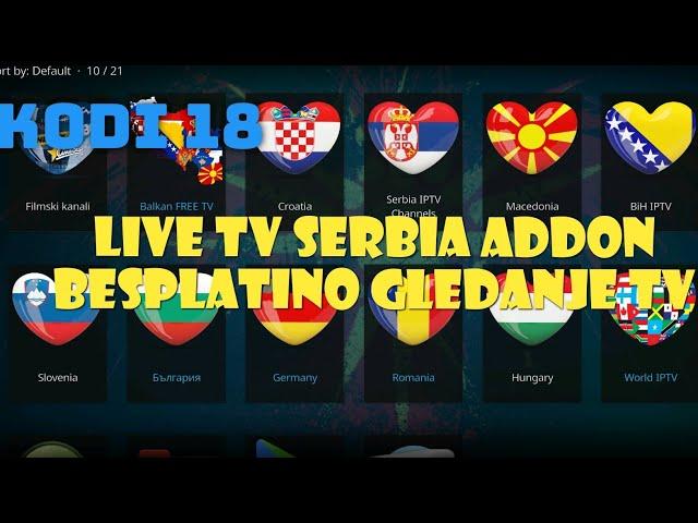 Live TV Serbia addon / Besplatno gledanje EXYU IPTV kanala