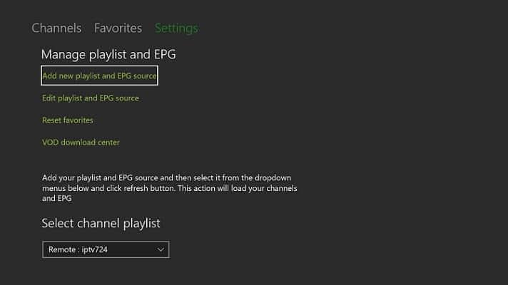 Bekijk IPTV op Xbox One met MyIPTV Player