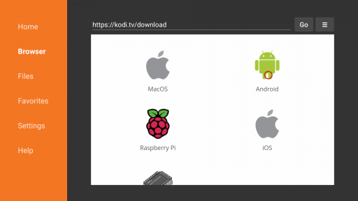 Click on Android icon