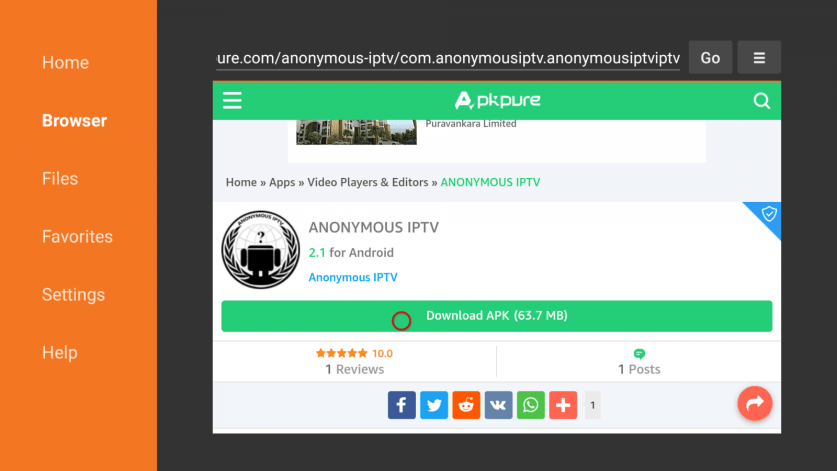 How to install Anonymous IPTV on Firestick?