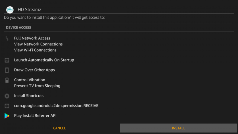 How to install HD Streamz on Firestick?