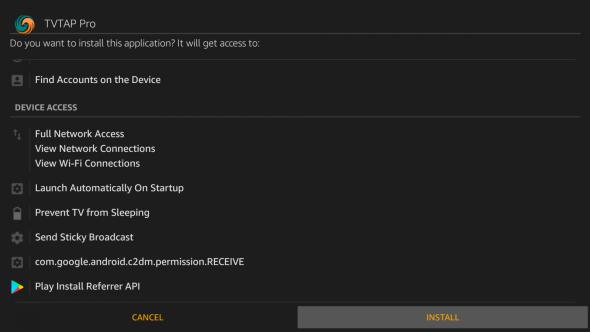 Install TVTap on Firestick