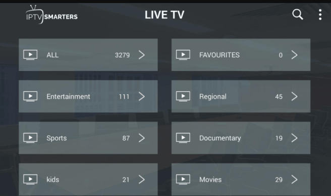 Available channels