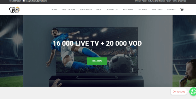 King IPTV - Best IPTV Providers