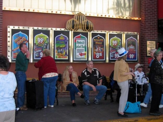 Westward Ho, Las Vegas - closing night November 25, 2005 specials signs