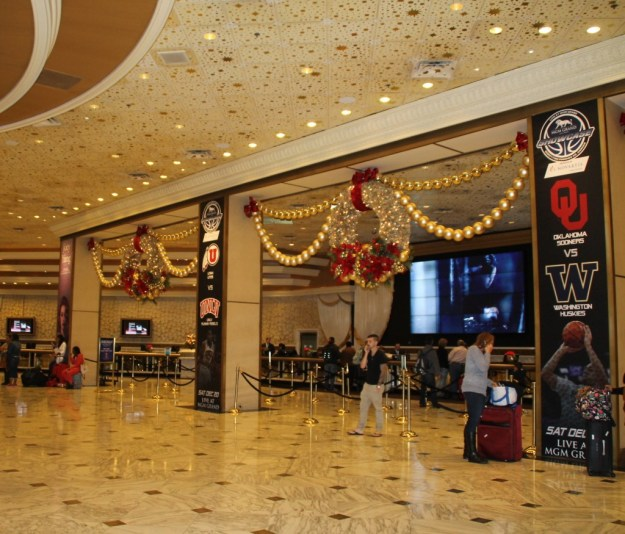 MGM Grand Christmas check in