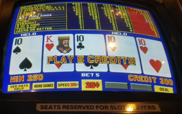 quarter tens double double bonus video poker main street station