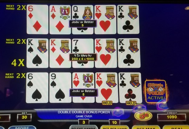 ultimate x video poker kings multiplier ballys atlantic city