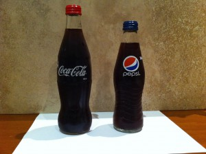Coke 'contour' and Pepsi's Carolina bottle
