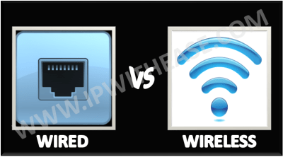 differentiate between wired and wireless network
