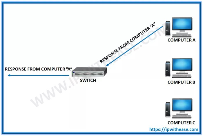 hub and switch difference