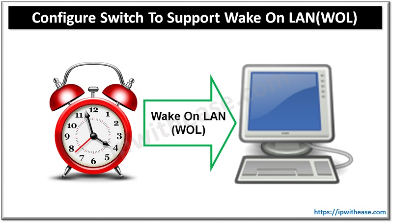 CONFIGURE SWITCH TO SUPPORT WAKE ON LAN (WOL)