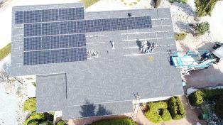 solar grid tie installation