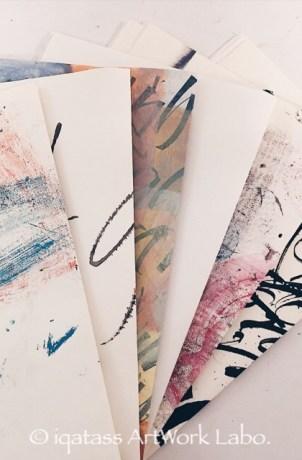 使い古した紙をつかって、アートノートを作ります。