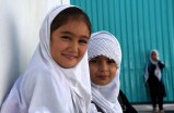 Afghan girls pose for photos during a break at a local school in Mazar-i-Sharif, capital of Balkh province, Afghanistan, Sept 14,2021.(Xinhua/IANS)