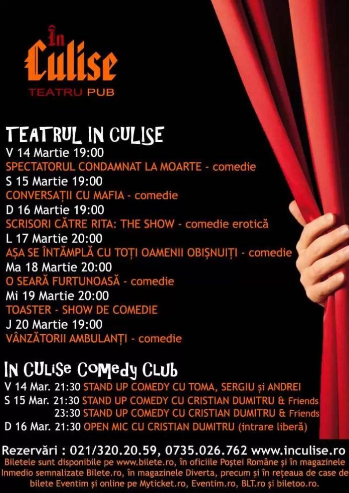Program In Culise 14-20 Martie
