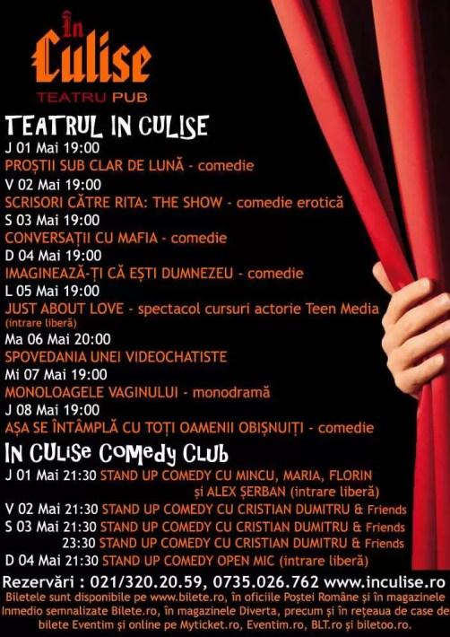 Program In Culise 01-08 Mai