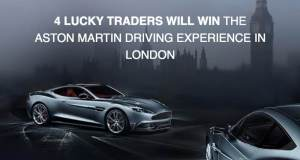 4 lucky traders can win a PACKAGE of the Aston Martin driving experience in London