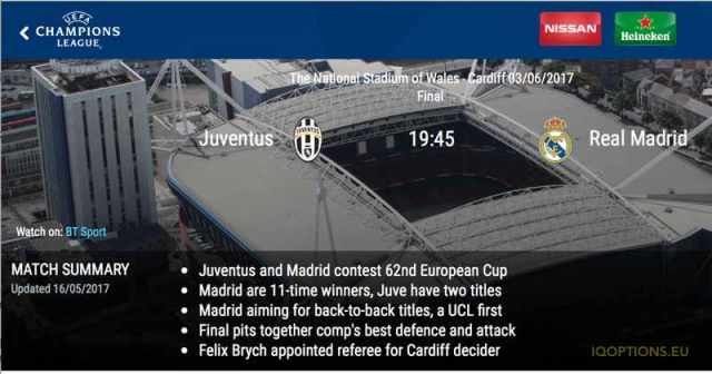 2017 Champion League-Finale - Real Madrid vs Juventus