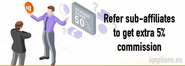 Refer sub-affiliates to IQ Option