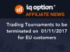Партньорски Новини - прекратяване на турнири в ЕС