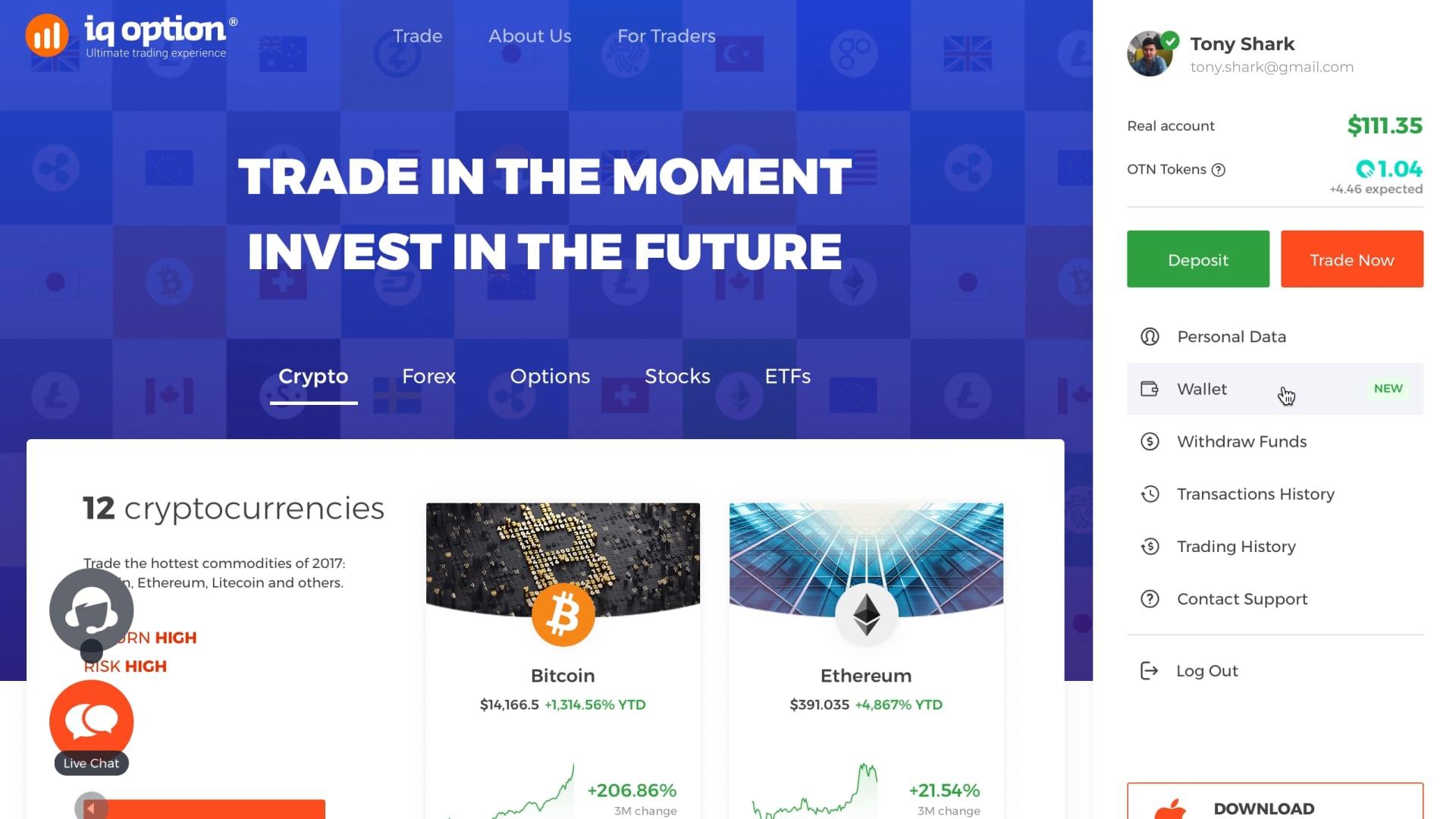 bitcoin revolūcijas brokeris binārā tirdzniecības demo lietotne