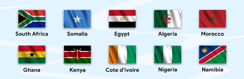 Digital Africa flags
