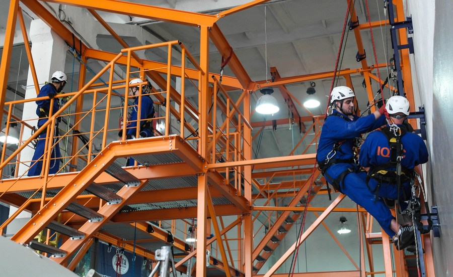 GWO Working at Heights training practical tasks in IQTC