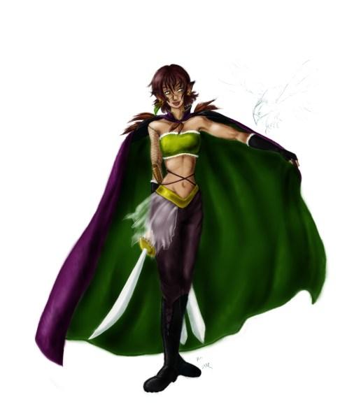 Armida Draner, la Volpe di Magwakon. Colorato con Photoshop e tavoletta grafica.