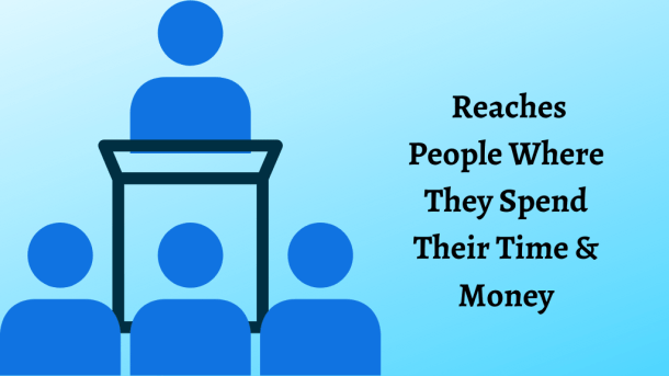 Reaches People Where They Spend Their Time & Money