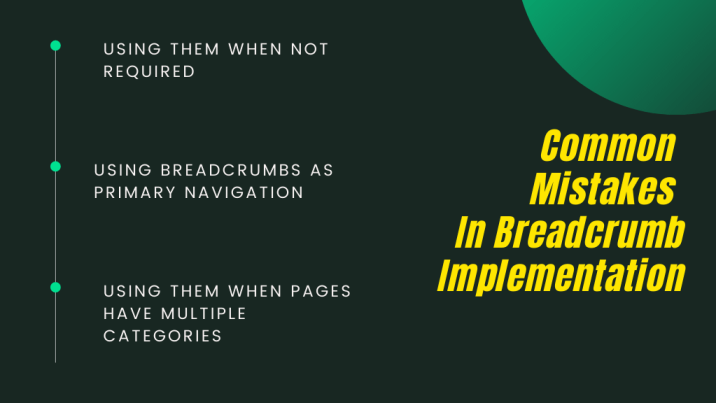 Common Mistakes In Breadcrumb Implementation