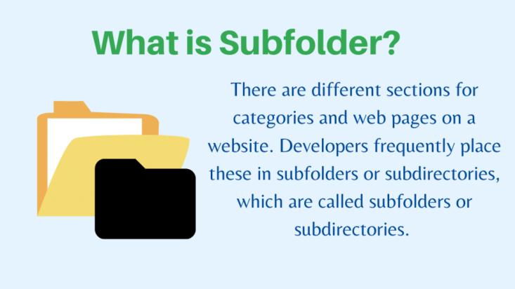 What is Subfolder