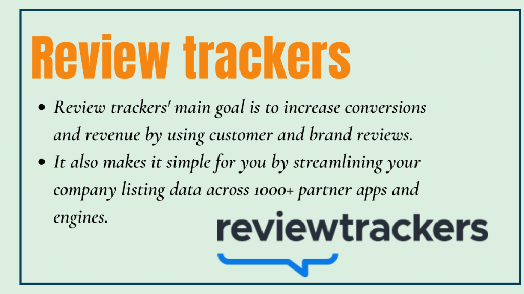 Review trackers - local seo tool