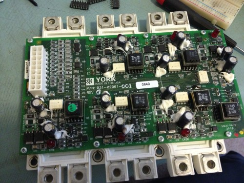 VFD IGBT and driver board.