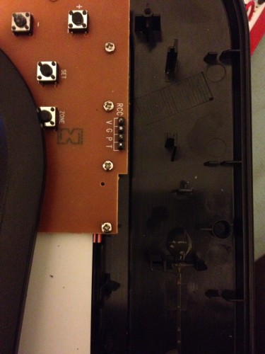 WWVB receiver module removed from clock