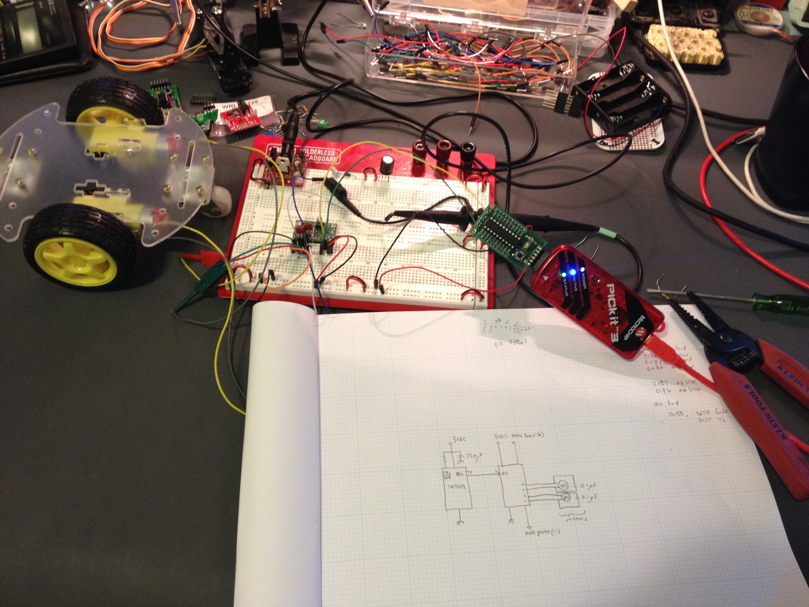 December 2013 Electrical Wire Tester Ebay First Step Of My Cheap Chassis Robot Build Getting The Motors Turning