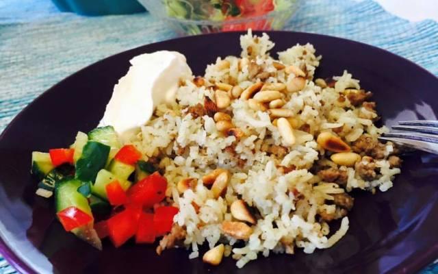 Ris med lammfärs, god allt-i-ett-rätt