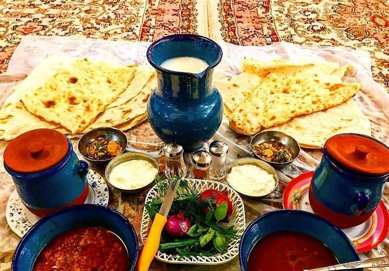Vaisselle et cuisine iranienne