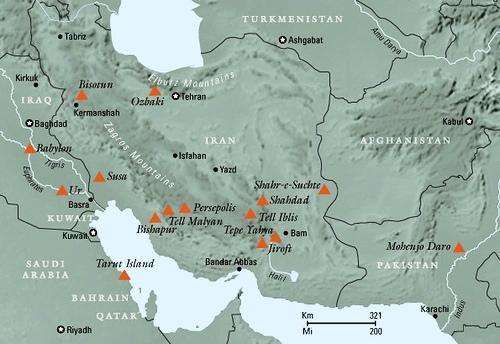 جانمایی شهر جیرفت در نقشه ایران