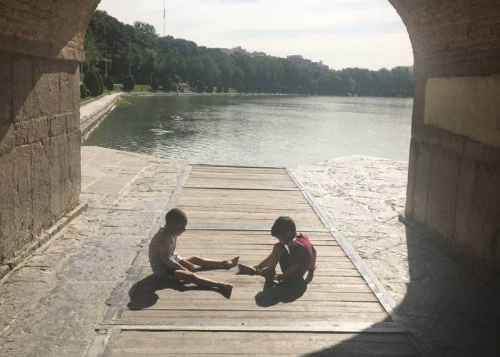 Kids playing in Isfahan