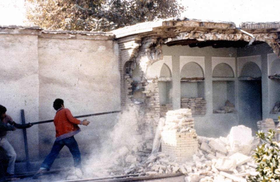 The House of the Báb in Shiraz, one of the most holy sites in the Bahá'í world, was destroyed by Revolutionary Guardsman in 1979 and later razed by the government.