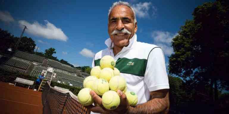 Tennis legend mansour bahrami